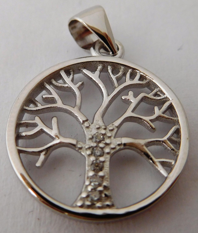 Krásný stříbrný přívěšek se zirkony - strom života 030530500002