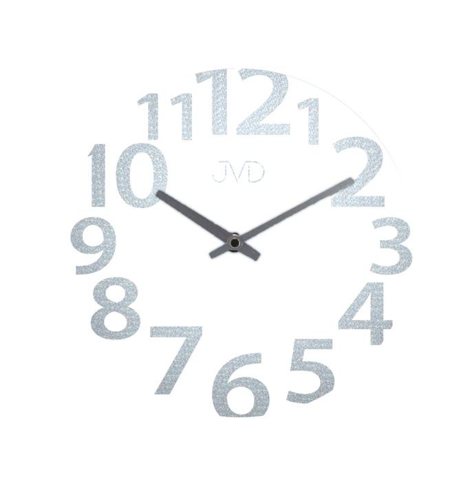 Skleněné designové nástěnné hodiny JVD HO138.2 ( )