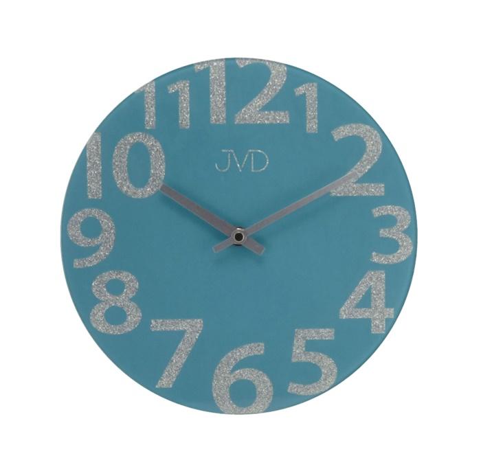 Skleněné designové nástěnné hodiny JVD HO138.3 ( )
