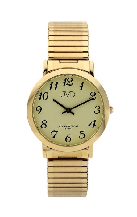 Dámské kovové zlacené hodinky JVD steel J1048.3