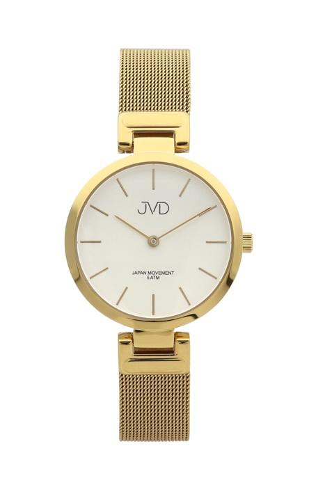Dámské ocelové náramkové hodinky JVD J4156.3 (zlacené)