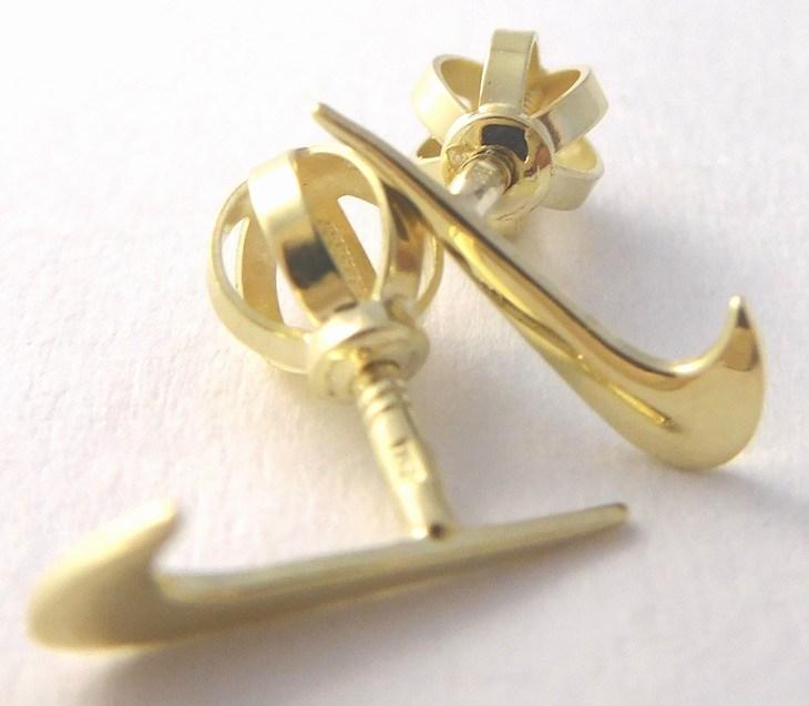 Zlaté pecičky zlaté pecky náušnice ve tvaru NIKE na šroubek 585/0,69gr 231041013 (231041013)