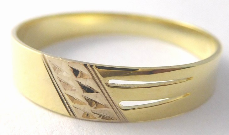 Mohutný zlatý prsten (žluté a bílé zlato) 585/1,74gr vel.60 221040649