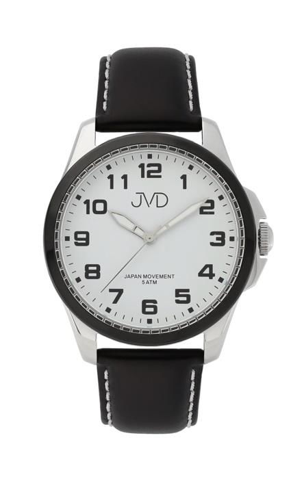 Pánské luxusní náramkové hodinky JVD J1110.1 na koženém pásku (POŠTOVNÉ ZDARMA!!)