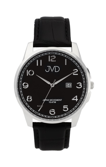 c837ec0826e Pánské luxusní vodotěsné náramkové hodinky JVD J1112.3 na koženém pásku