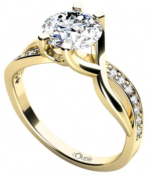Zásnubní zlatý prsten se zirkonem 585/2,32gr vel.53 4515065 POŠTOVNÉ ZDARMA!! (4515065)