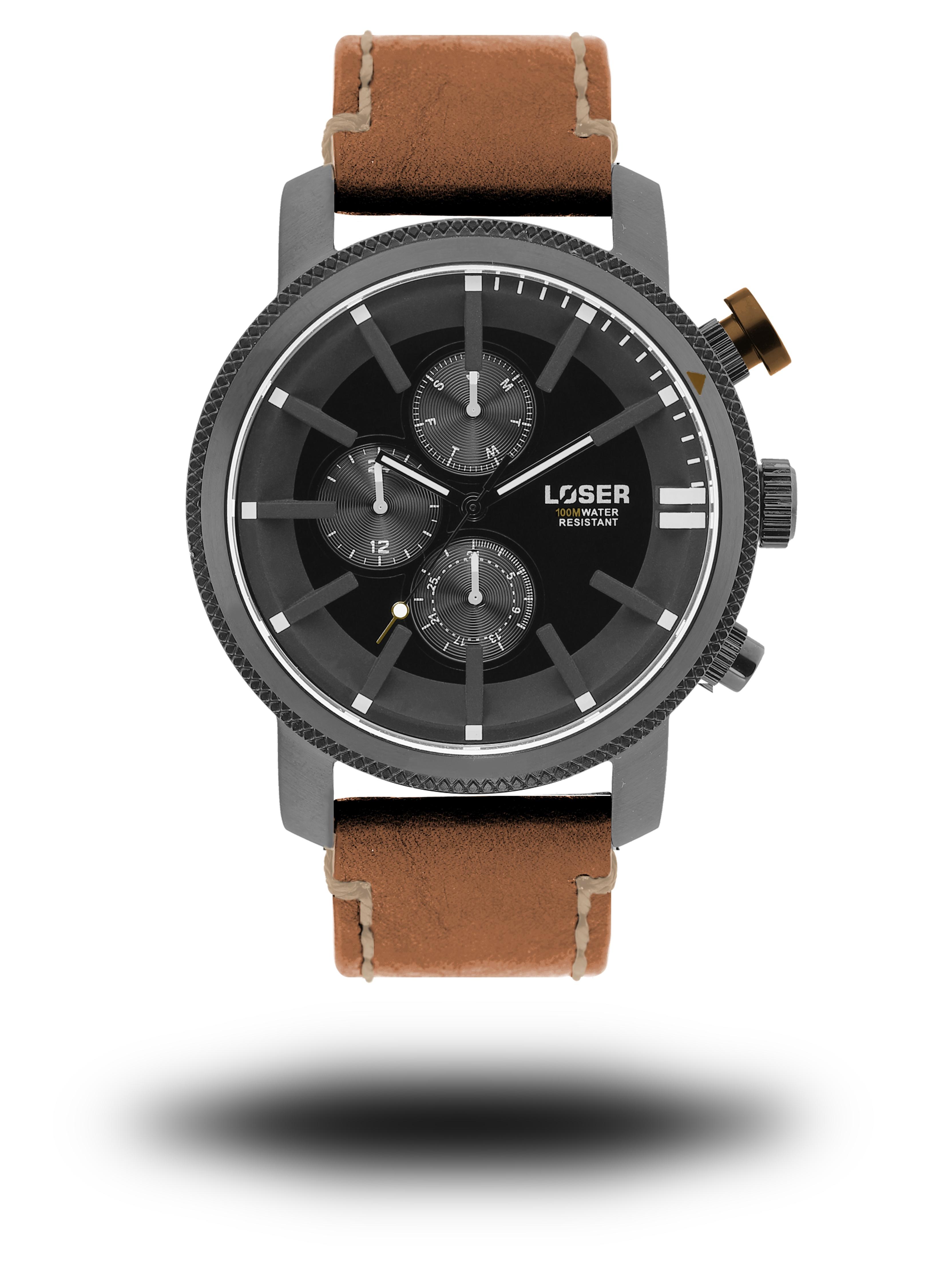 Luxusní nadčasové sportovní vodotěsné mohutné hodinky LOSER Legacy BROWN SHADE (POŠTOVNÉ ZDARMA!! )