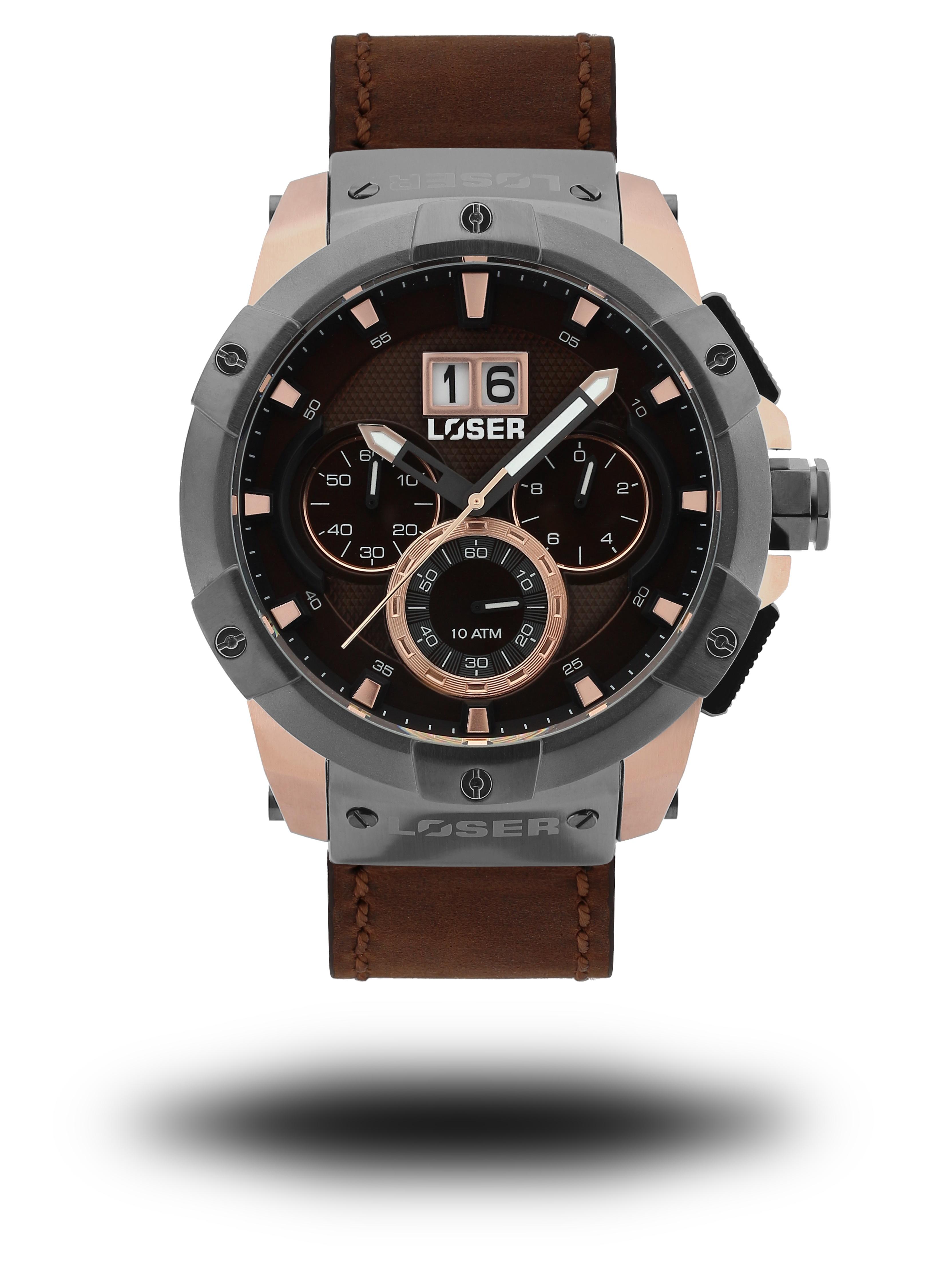 Luxusní nadčasové sportovní vodotěsné mohutné hodinky LOSER Vision NOBLE BROWN (POŠTOVNÉ ZDARMA!! )
