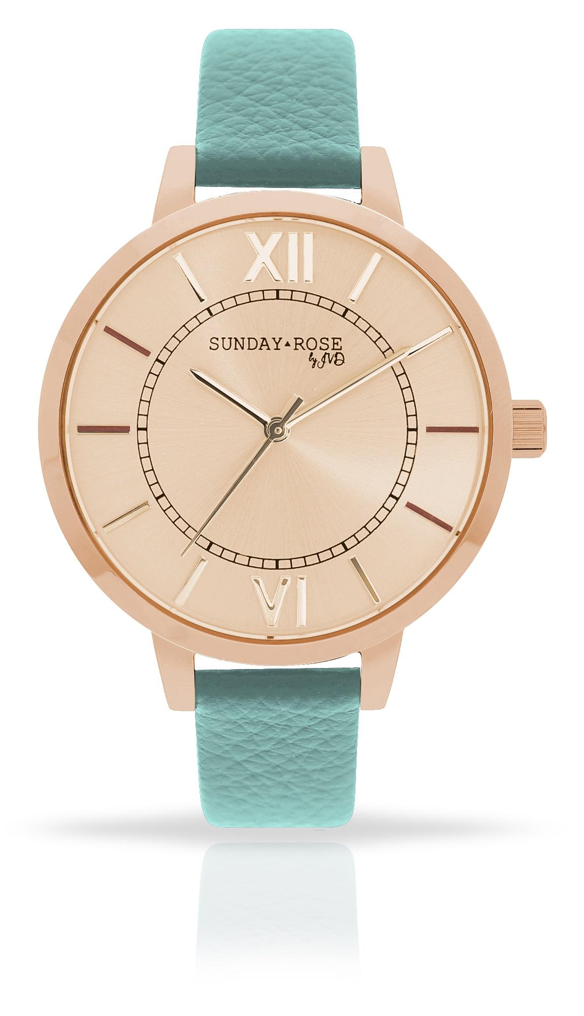 Dámské luxusní designové hodinky SUNDAY ROSE Classic PASTEL GREEN (POŠTOVNÉ ZDARMA!!)