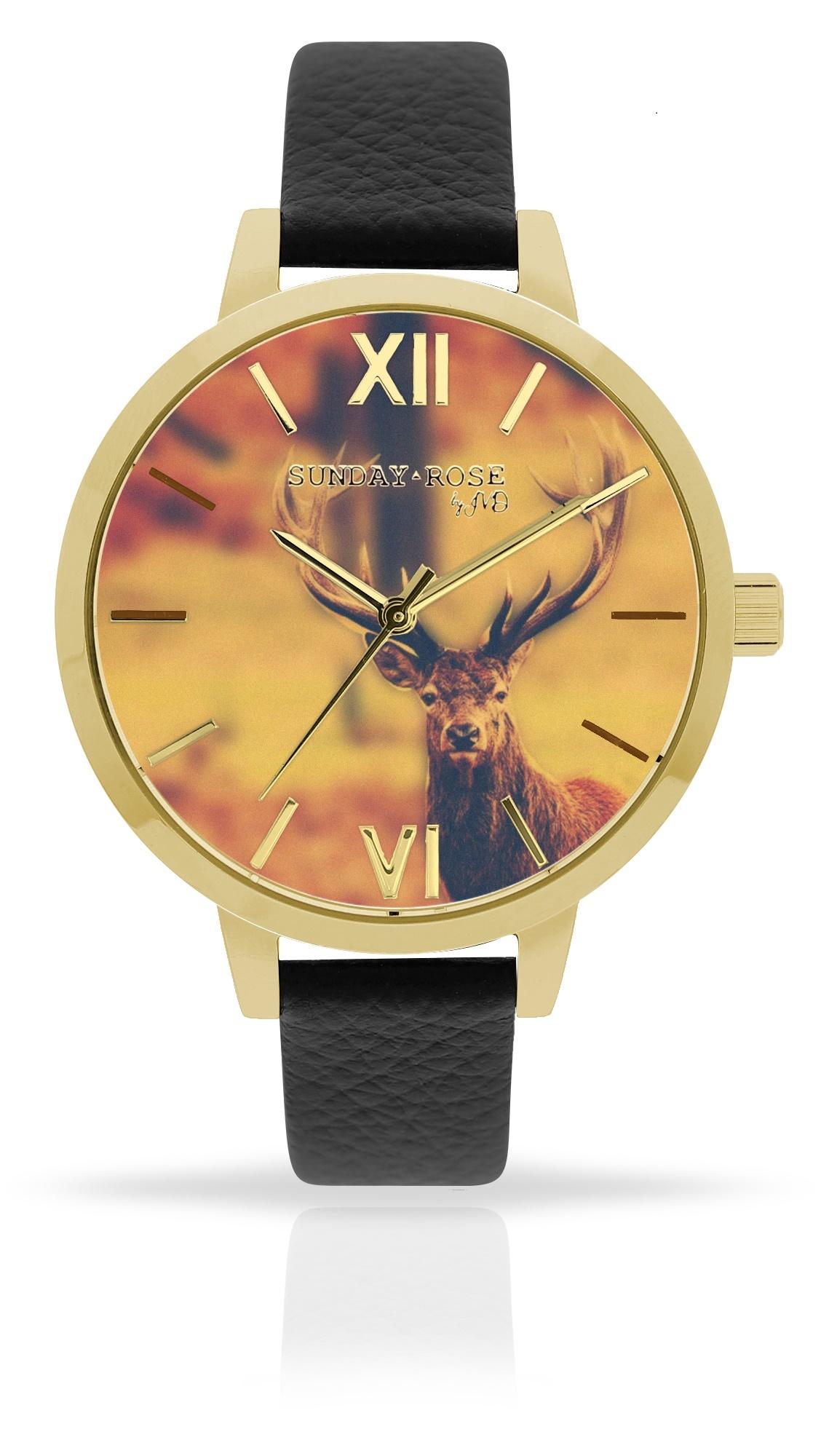 Dámské luxusní designové hodinkySUNDAY ROSE Alive DEER MAJESTY (POŠTOVNÉ ZDARMA!!)