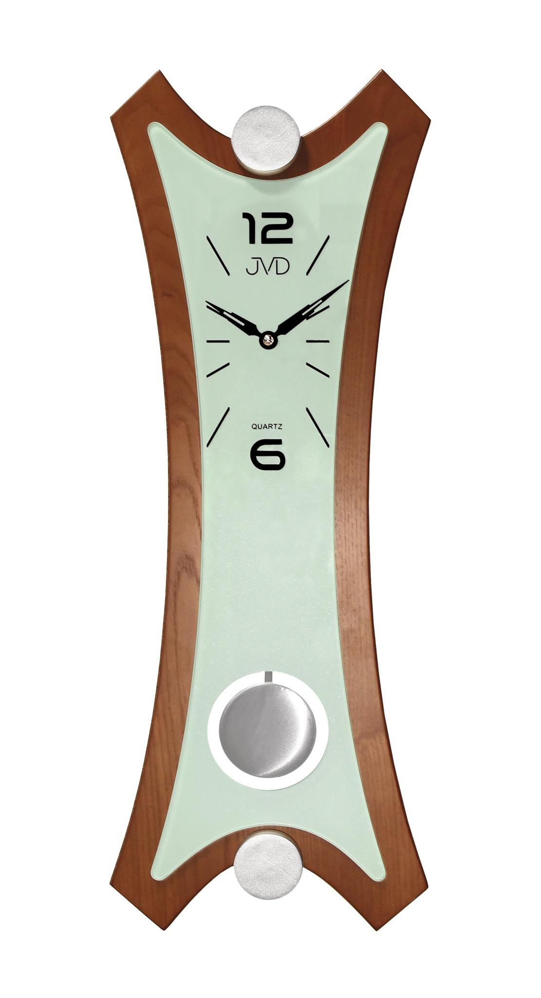 Kyvadlové dřevěné nástěnné hodiny JVD N16010.1 (POŠTOVNÉ ZDARMA!!)