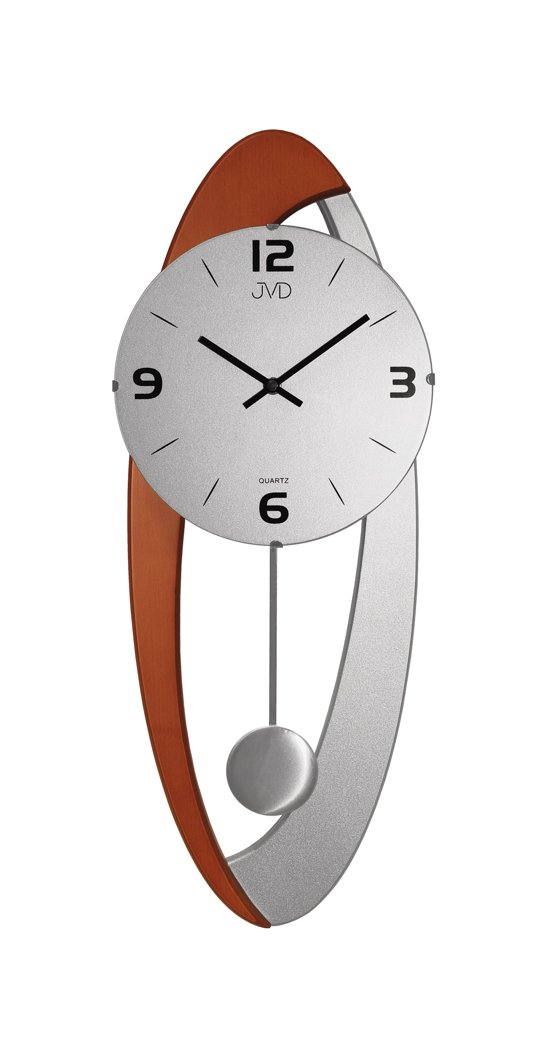 Dřevěné skleněné designové kyvadlové nástěnné hodiny JVD N15021/41 (POŠTOVNÉ ZDARMA!!)