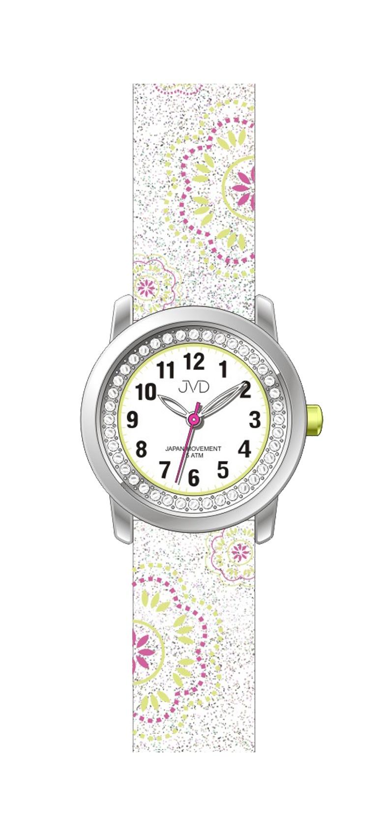 Dětské dívčí náramkové hodinky JVD J7171.1 (bílé)