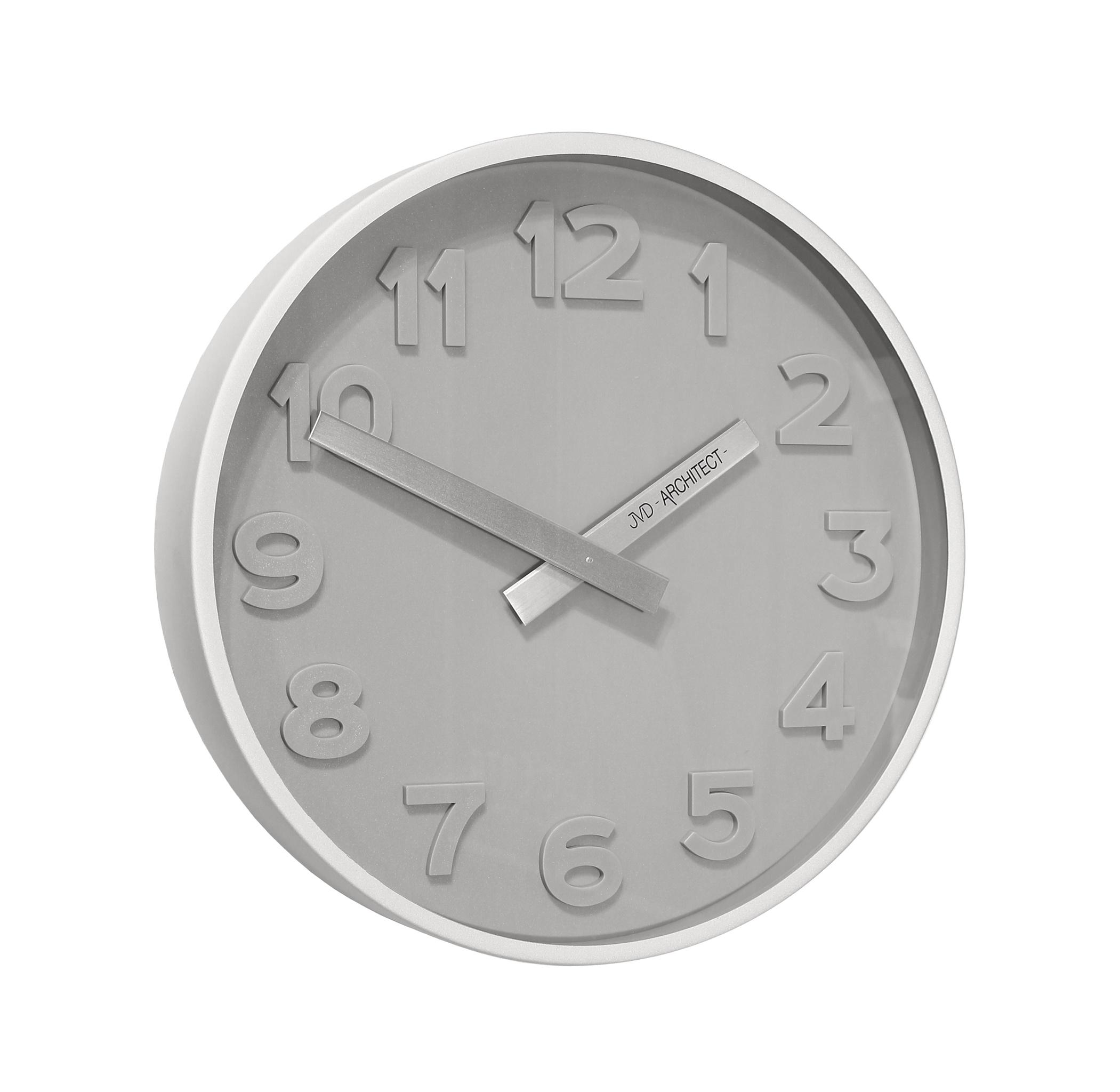 Plastové designové nástěnné hodiny JVD -Architect- HC13.1 - 3D