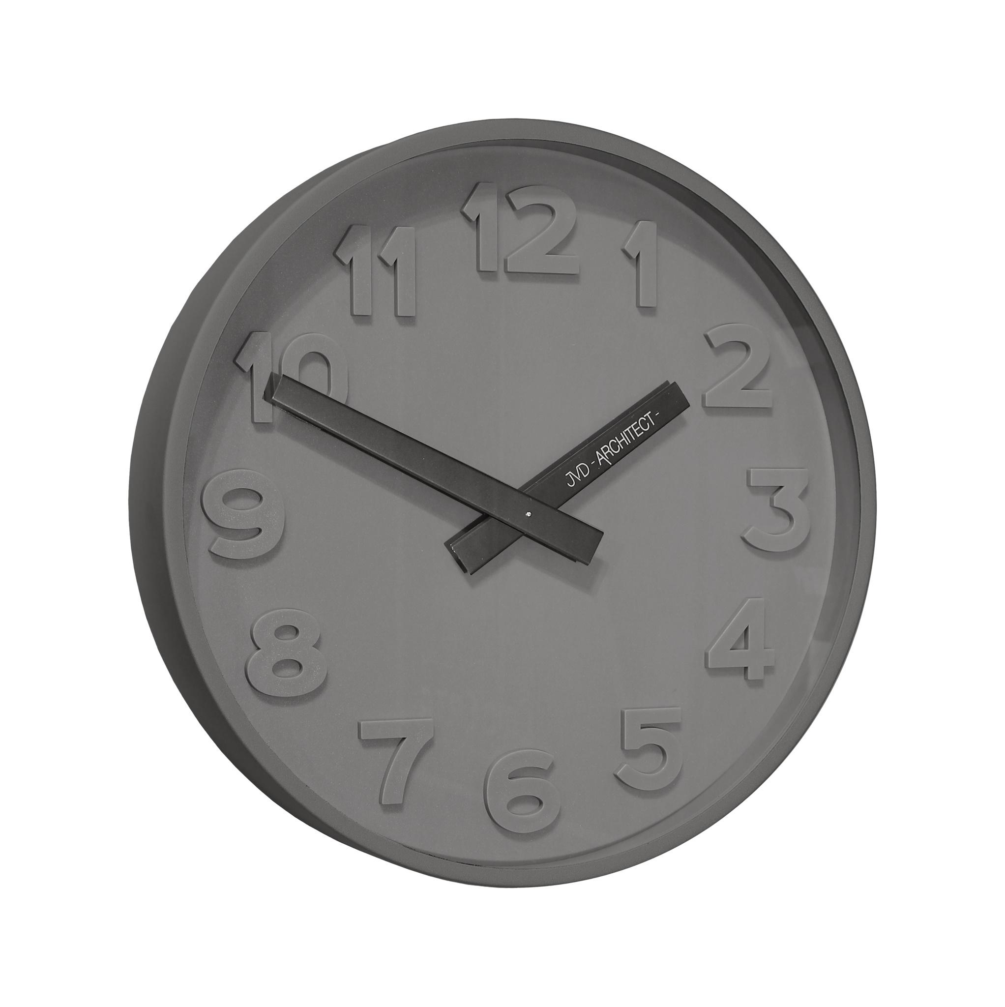 Plastové designové nástěnné hodiny JVD -Architect- HC13.2 - 3D