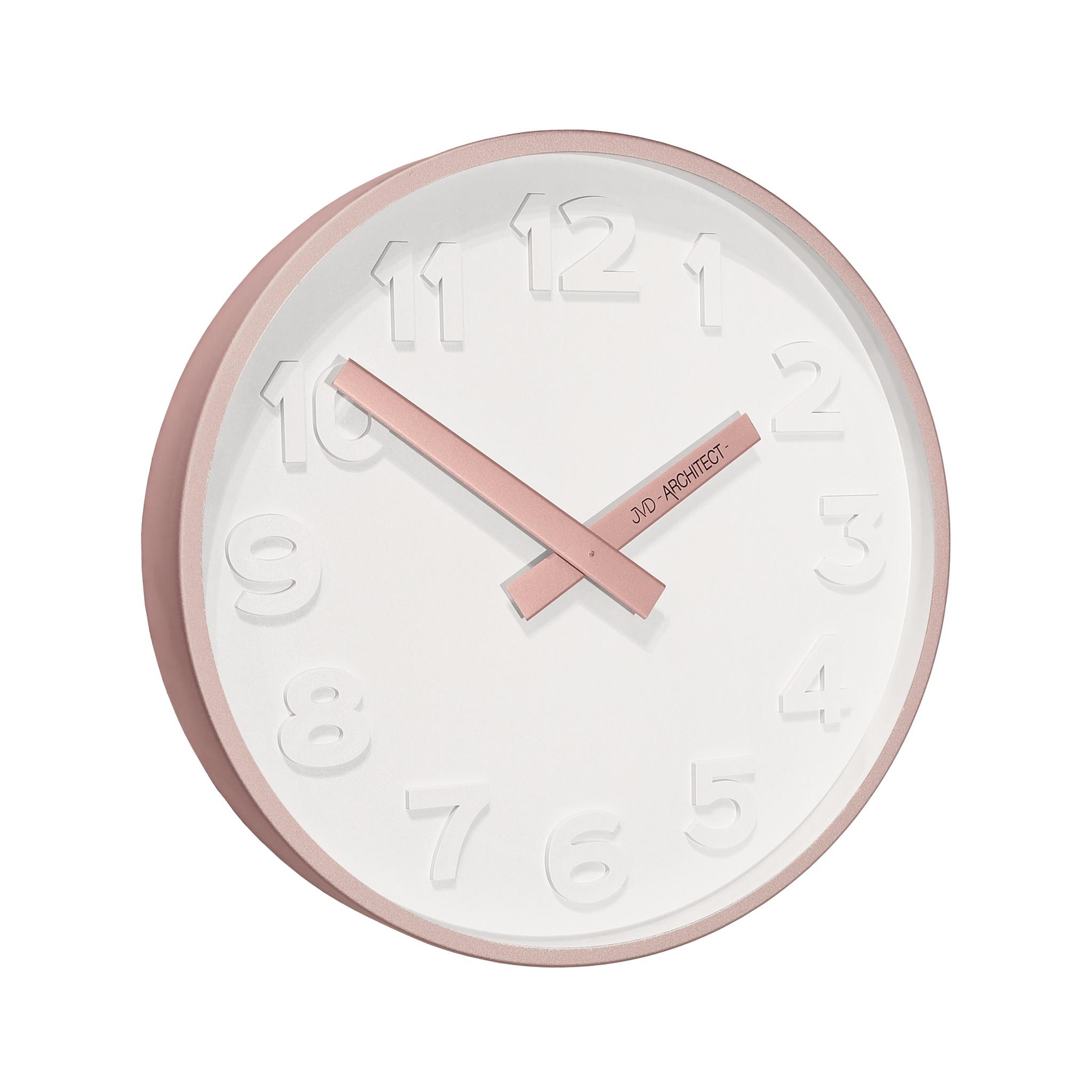Plastové designové nástěnné hodiny JVD -Architect- HC13.3 - 3D