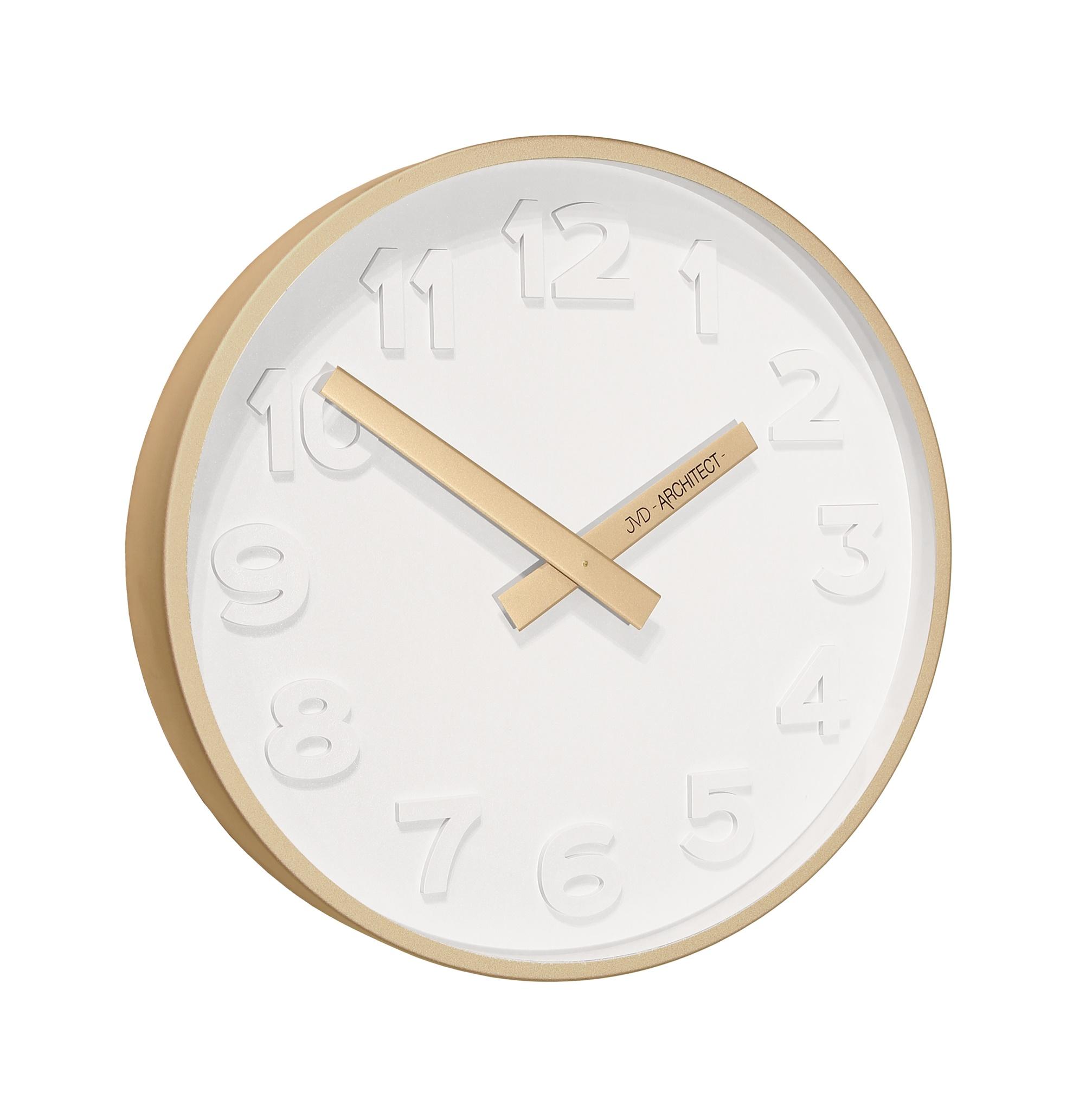 Plastové designové nástěnné hodiny JVD -Architect- HC13.4 - 3D