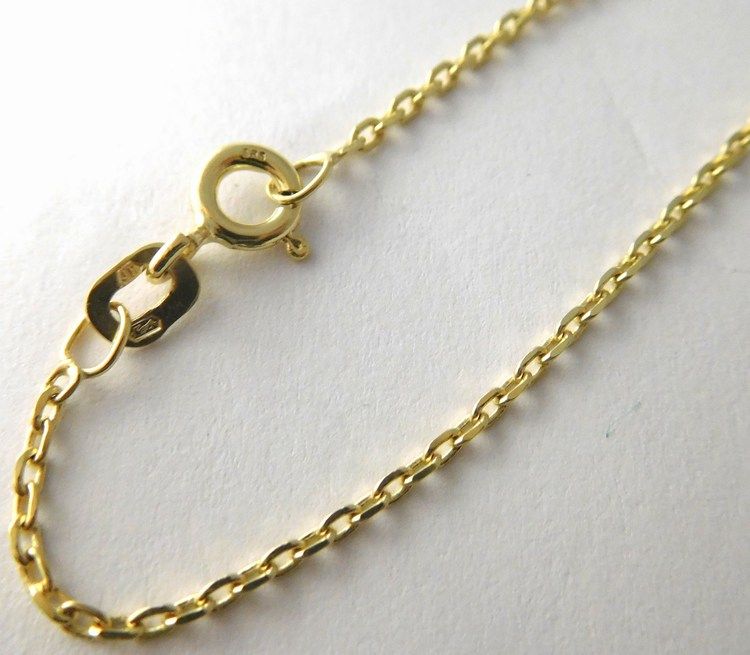 Dámský pevný přívěskový zlatý řetízek vhodný na přívěsek 585/2,64gr 50cm H778