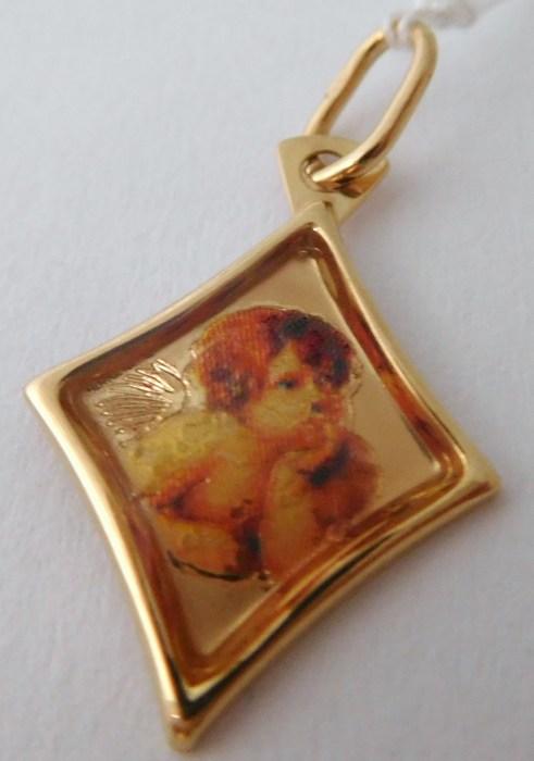 Zlatý přívěsek - zlatý andělíček s gravírováním 585/0,59gr H782