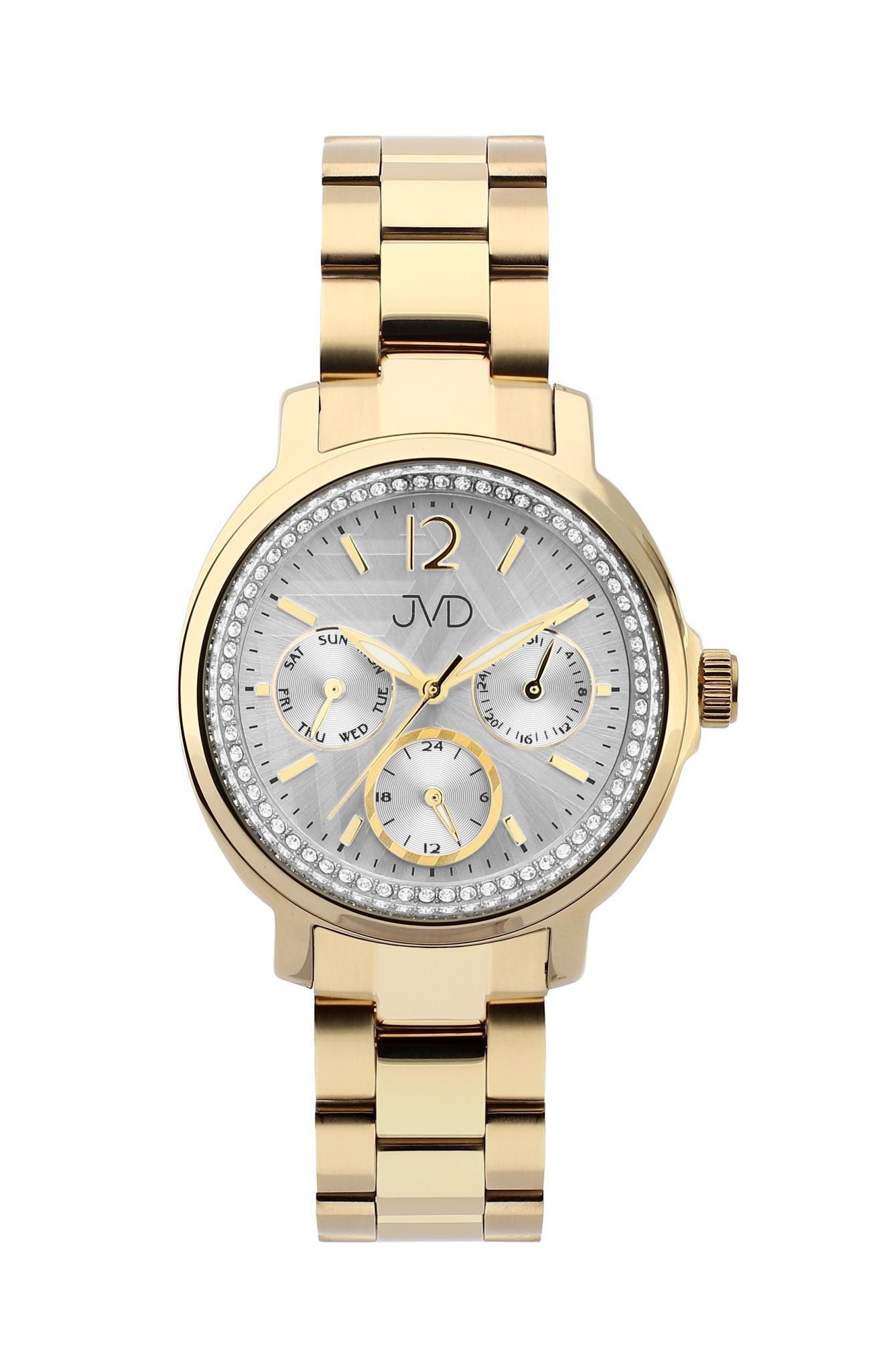 Luxusní dámské ocelové hodinky JVD JC043.2 se zirkony okolo číselníku (POŠTOVNÉ ZDARMA!!)