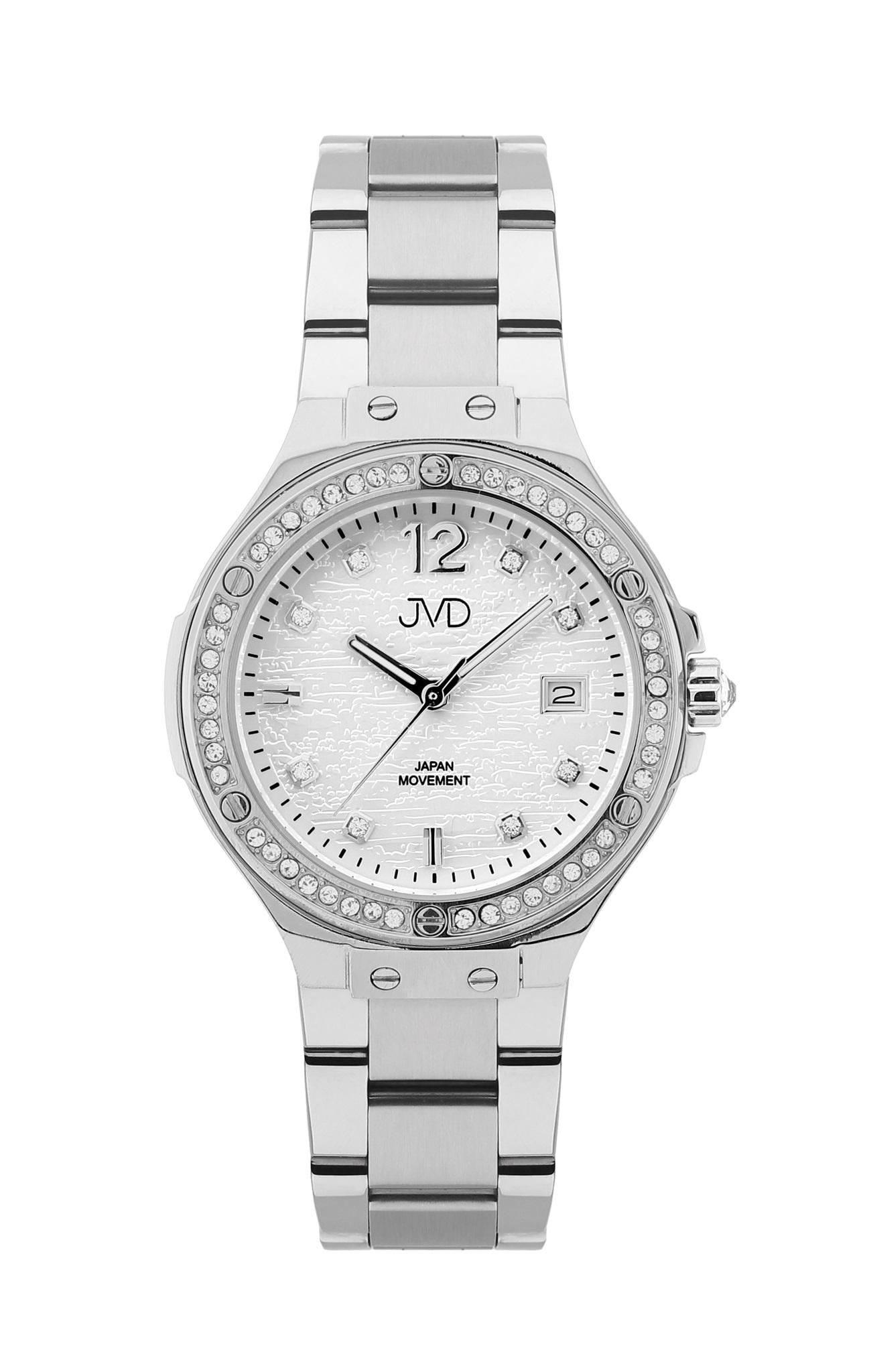 Luxusní dámské ocelové hodinky JVD JC032.2 se zirkony okolo číselníku  (POŠTOVNÉ ZDARMA! a997de381a2