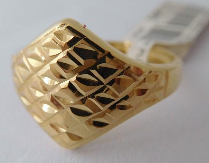 Dámský mohutný gravírovaný zlatý prstýnek vel.54 585/1,62gr 1110536 (1110536 - POŠTOVNÉ ZDARMA)