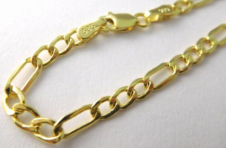 Pánský mohutný zlatý náramek FIGARO šíře 3,15mm 21cm 585/2,0gr 3640250 (3640250 - POŠTOVNÉ ZDARMA)