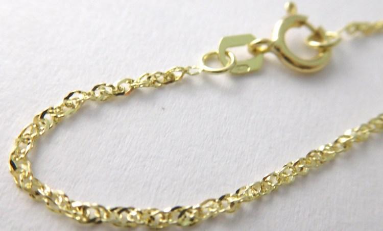 Dámský přívěskový zlatý řetízek TWIST 50cm 585/1,47gr 3640002