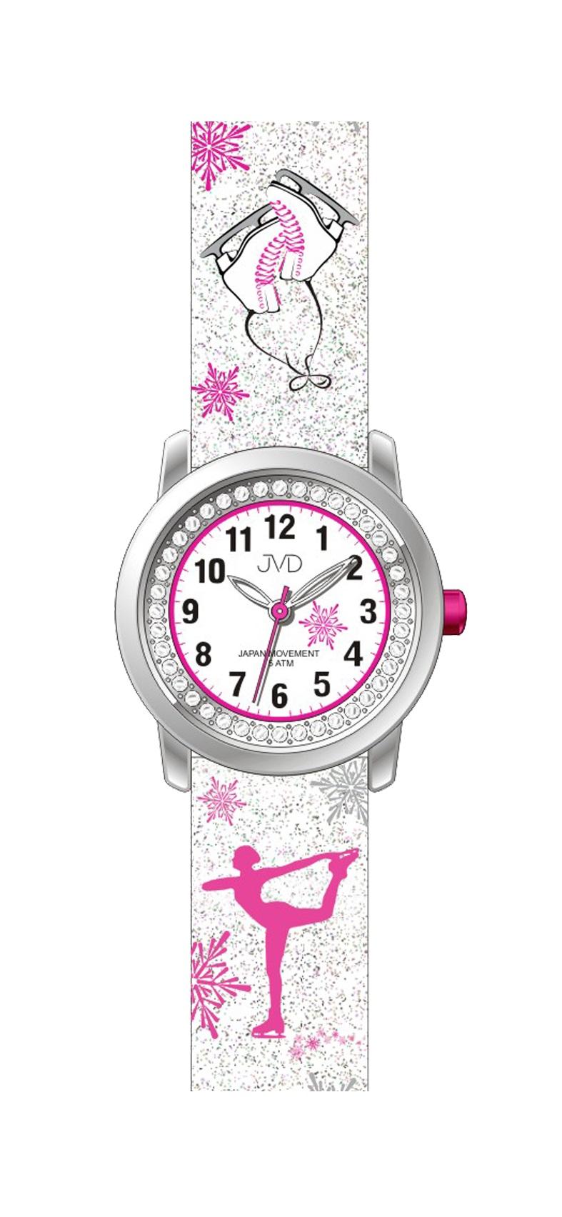 Dětské náramkové dívčí hodinky JVD J7170.2 - krasobruslařka (POŠTOVNÉ ZDARMA!!!)