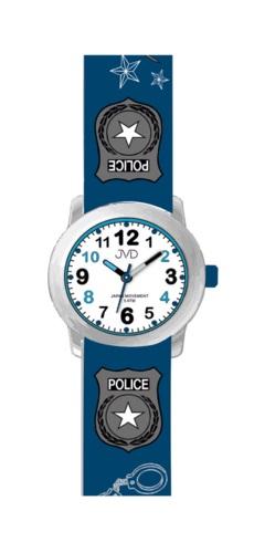 Dětské náramkové chlapecké hodinky JVD J7173.3 pro malého policistu