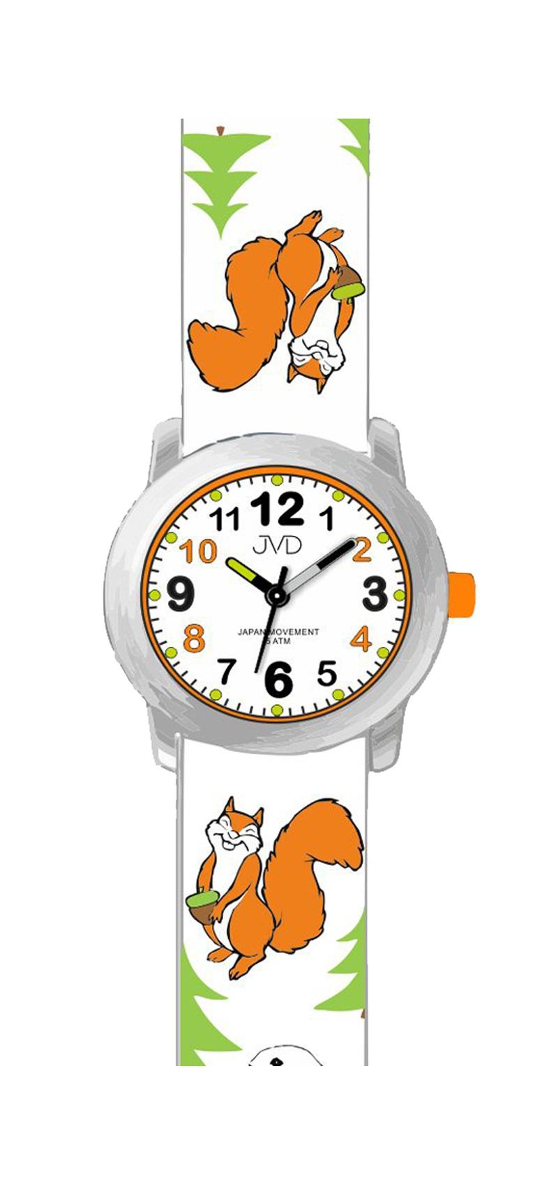 Dětské náramkové hodinky JVD J7174.1 (motivy lesních zvířátek)