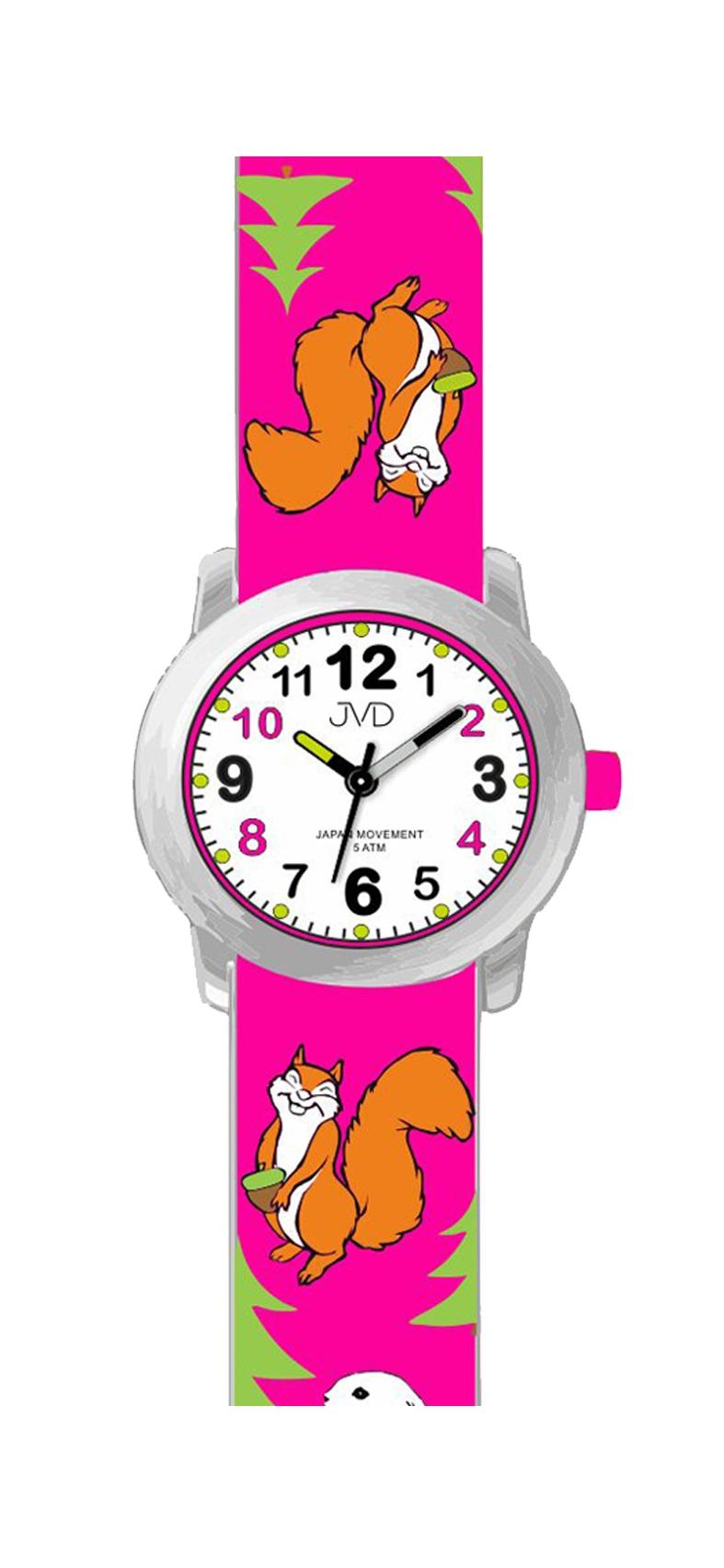 Dětské náramkové hodinky JVD J7174.3 (motivy lesních zvířátek)