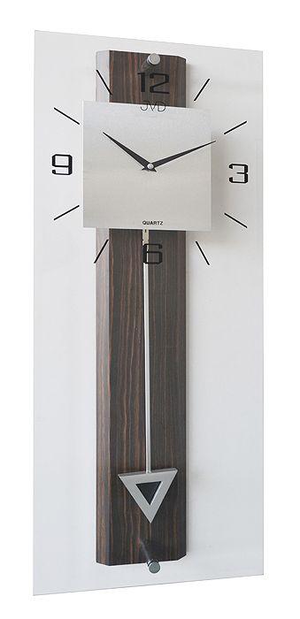 Luxusní moderní medové nástěnné kyvadlové hodiny JVD quartz N2233/77 (POŠTOVNÉ ZDARMA!!!!)