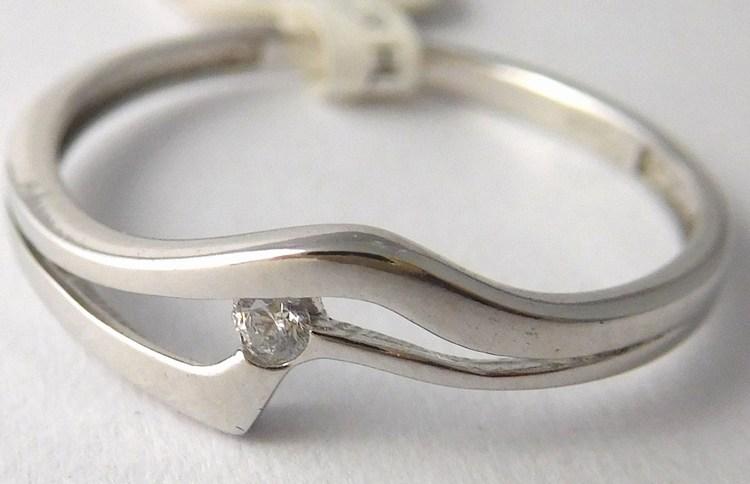 Dámský zlatý prsten z bílého zlata se zirkonem 585/1,00gr vel.55 1166130 (1166130 - POŠTOVNÉ ZDARMA)