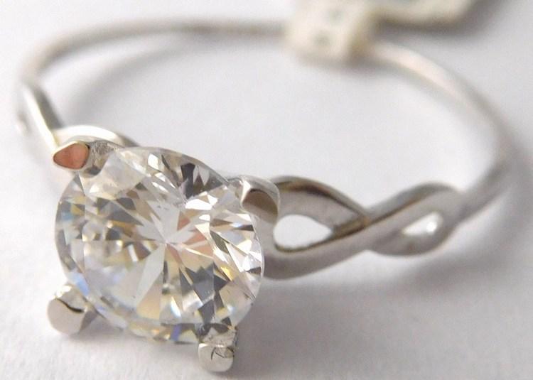 Zásnubní zlatý prsten z bílého zlata se zirkonem 585/1,40gr vel.56 2160128 (2160128 - POŠTOVNÉ ZDARMA)