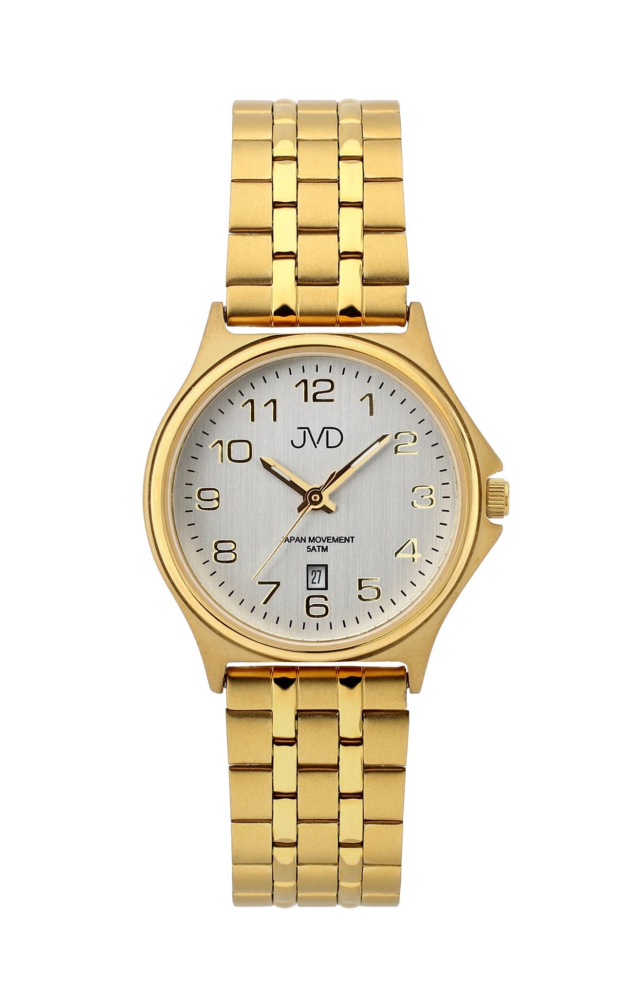 Dámské přehledné čitelné náramkové zlacené hodinky JVD J4151.2 - 5ATM (POŠTOVNÉ ZDARMA!!)