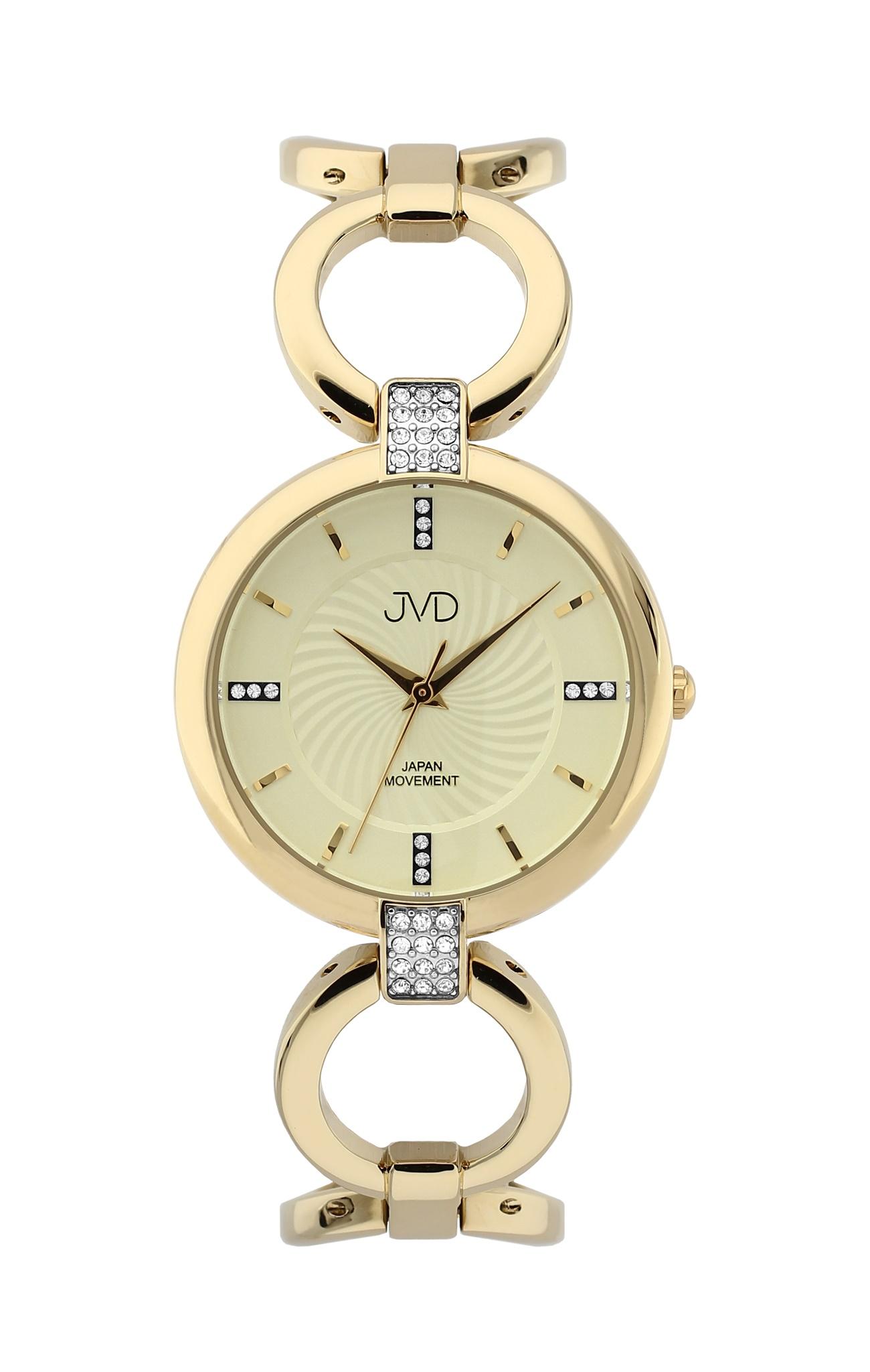 Luxusní dámské nerezové náramkové hodinky JVD JC093.3 - zlacené (POŠTOVNÉ ZDARMA!!)