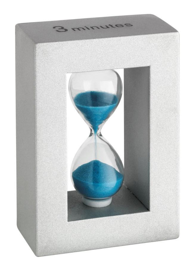 Designové přesýpací hodiny se světle modrým pískem (TFA 18.6006.14)