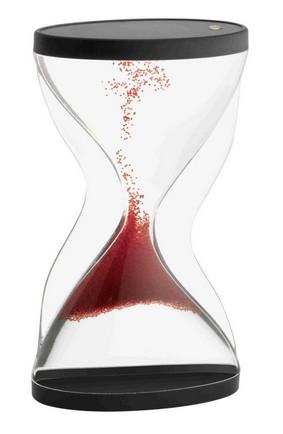 Přesýpací hodiny s ohromujícím efektem - přesýpají se vzhůru - červené