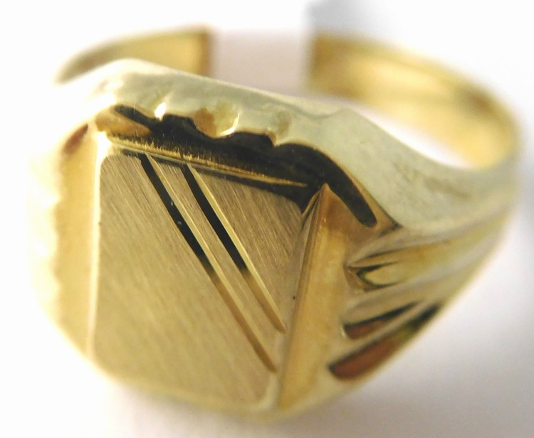 0ac421cdb Pánský mohutný zlatý prsten s gravírováním 585/3,00gr vel. 58 T229 ...