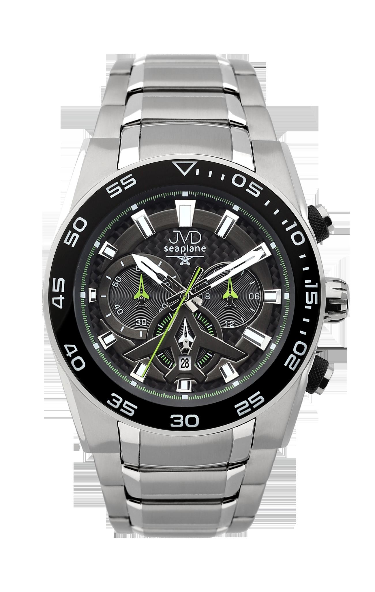 Luxusní vodotěsné sportovní hodinky JVD seaplane W49.4 chronograf se  stopkami 70287f8648a