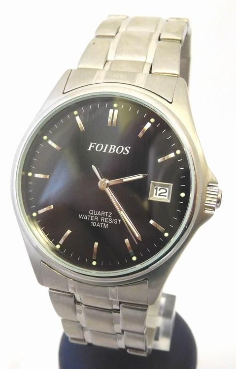 7c97143242f Pánské vodotěsné čitelné ocelové hodinky Foibos 6345 s datumovkou ( )