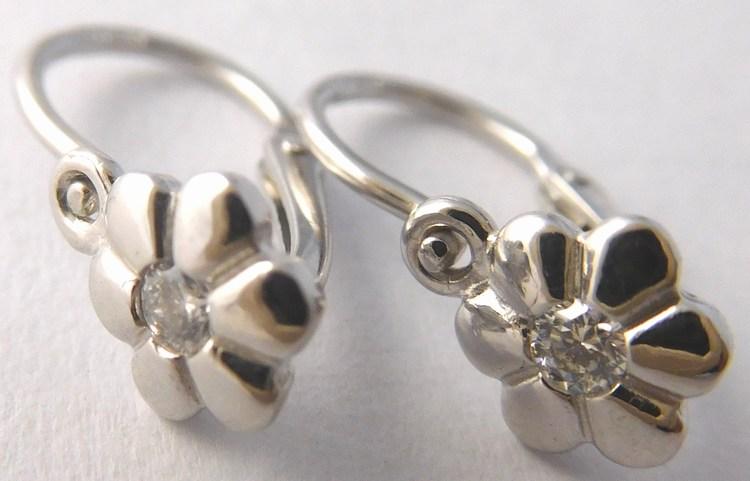 Luxusní diamantové dětské zlaté náušnice s diamanty 585/1,0gr 4089005 (4089005 SKLADEM IHNED ODESÍLÁME!! POŠTOVNÉ ZDARMA)