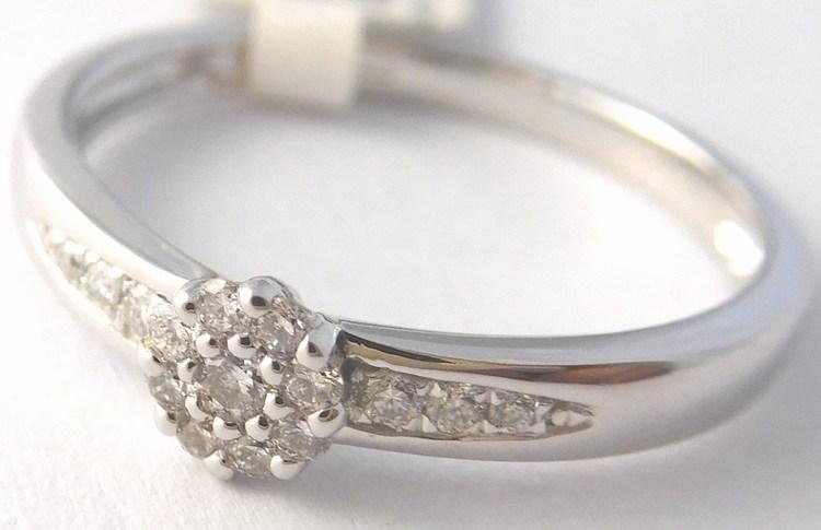 Zásnubní diamantový prsten z bílého zlata s 15ks diamantů 585/1,87gr 3861211 (POŠTOVNÉ ZDARMA - VEL. 55 PŘIPRAVENA K ODESLÁNÍ)