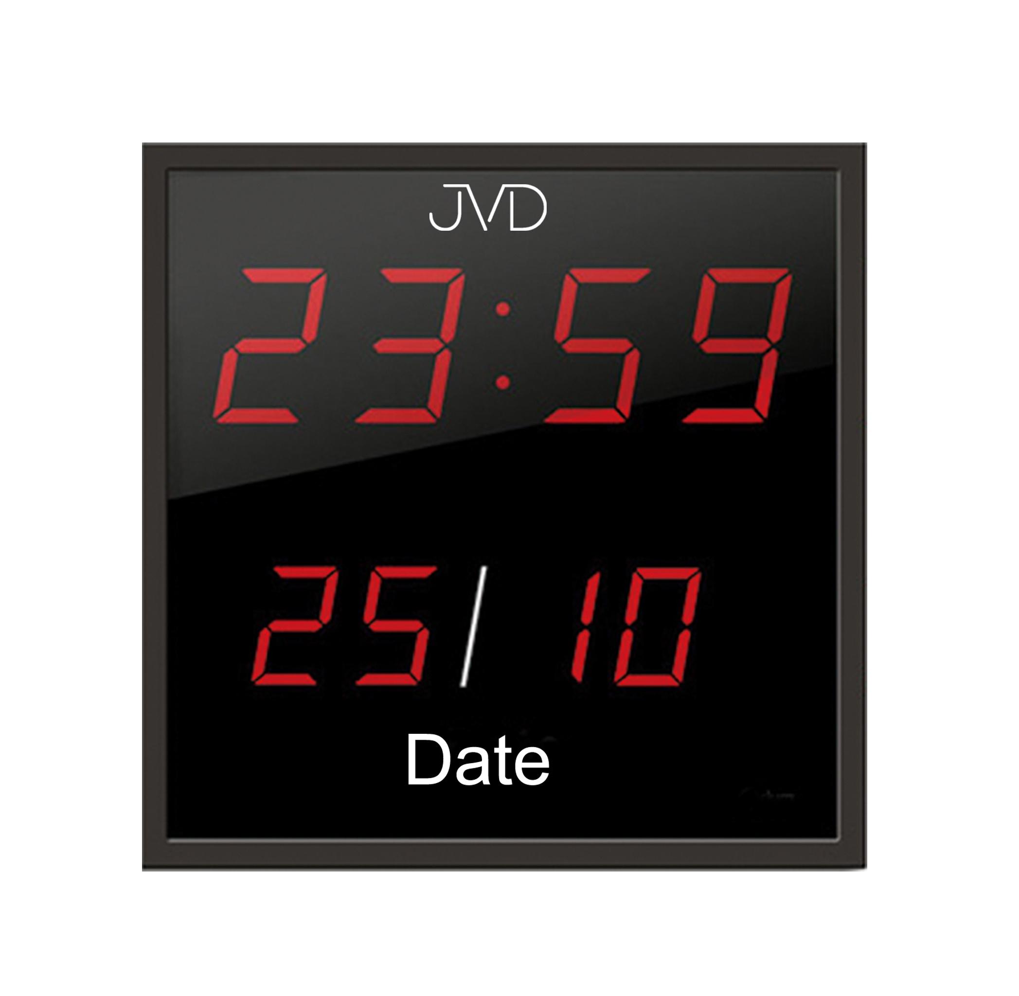 Velké svítící digitalní nástěnné hodiny JVD DH41 s červenými číslicemi