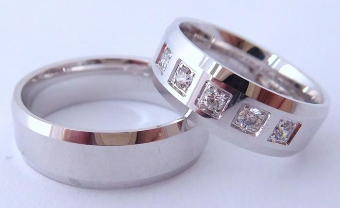 Exkluzivní zlaté snubní prsteny Couple 585/1000 s diamanty 65SCH2 (65SCH2)