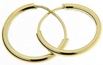 Dámské levné zlaté kruhy - hladké 12mm 585/0,60gr 2333001 (2333001 - POŠTOVNÉ ZDARMA)