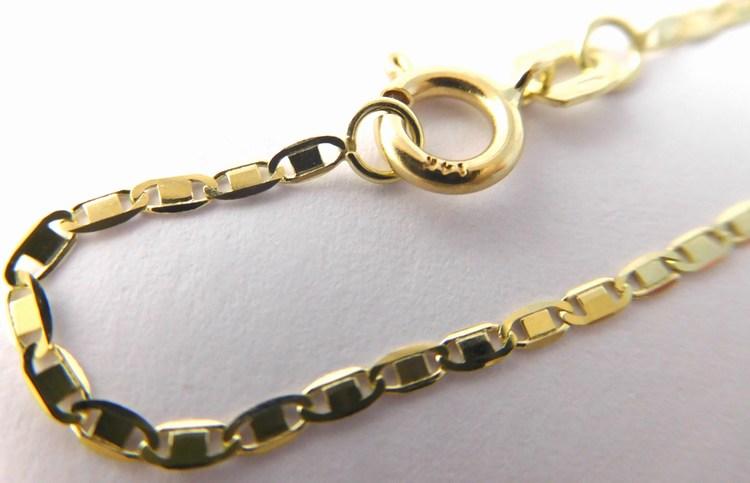 Dámský zlatý řetízek s gravírováním - žiletka 585/1,70gr 50cm 3640299