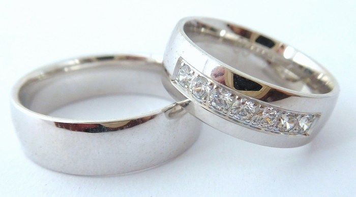 Exkluzivní stříbrné snubní prsteny Couple 925/1000 65P1 (65P1)