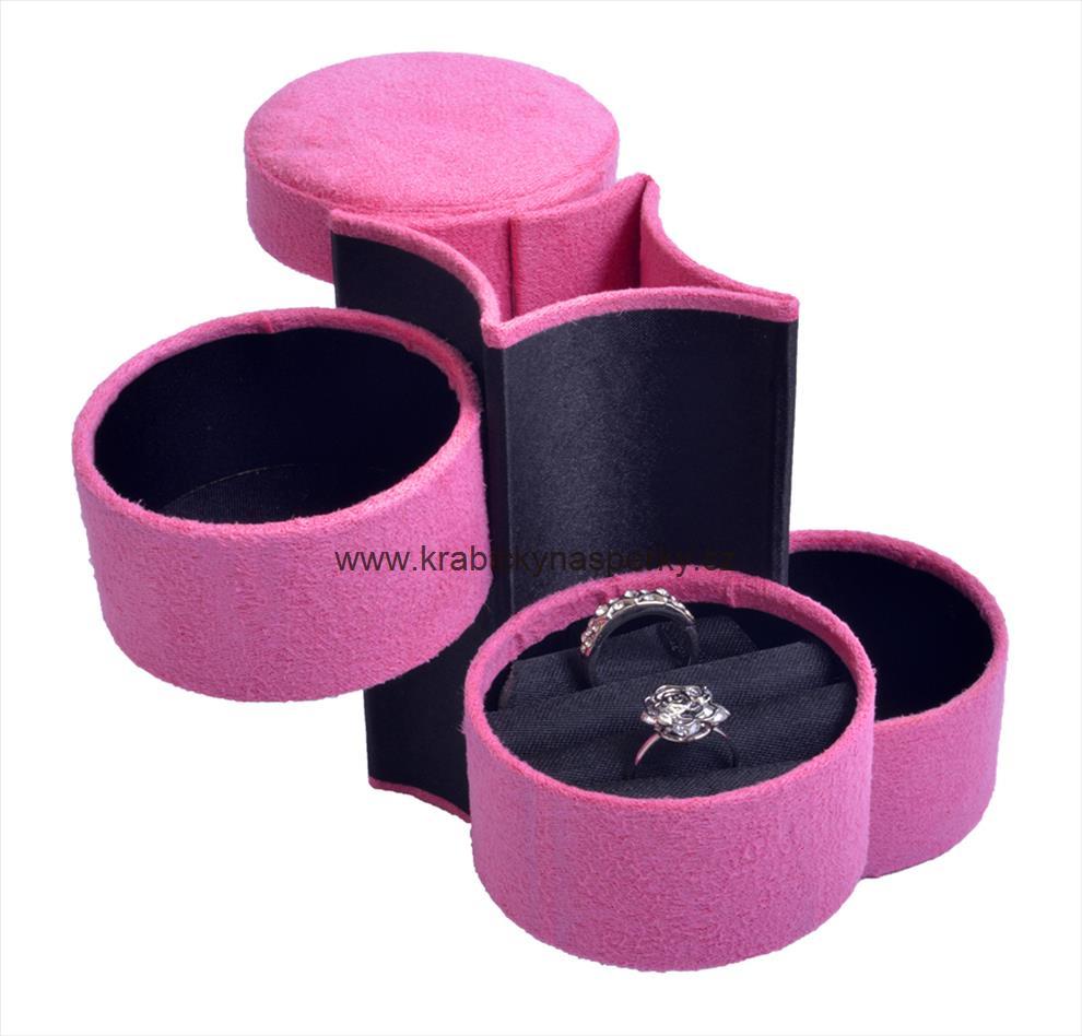 Látková růžová šperkovnice SP-885/A5